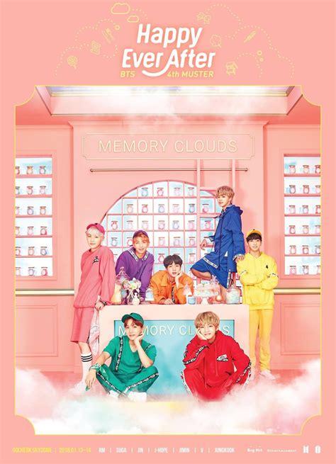 bts muster bts 4th muster happy ever after 메인 포스터 방탄소년단 bts