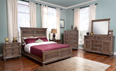 lakeport pewter panel bedroom set from new classic