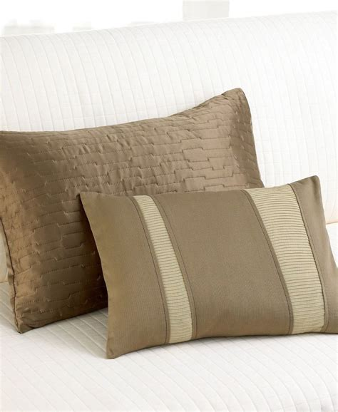 calvin klein bed pillows calvin klein brushstroke textured triangle decorative
