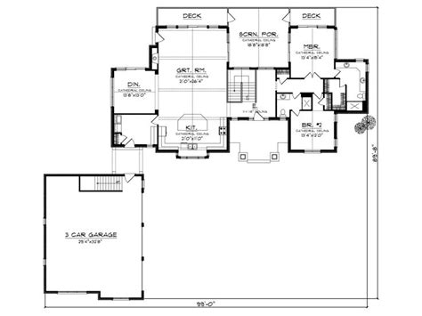 empty nest floor plans small empty nester house plans