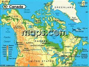 canada elevation map canada map elevation