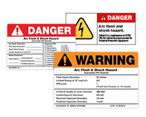 Labels Creative Safety Supply Arc Flash Label Template