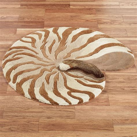 seashell area rug chambered nautilus seashell shaped wool rugs