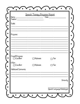 speech therapy progress report template progress report templates for speech therapy by