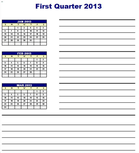 quarterly business plan template quarterly planner template blue layouts