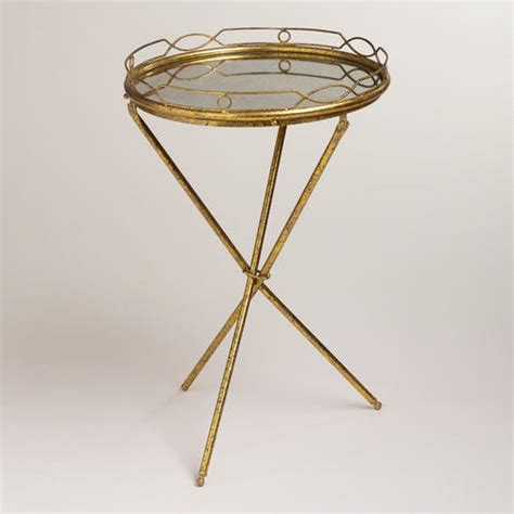 Mirrored Tray Table by Gold Mirrored Butler Tray Traditional Side Tables And End