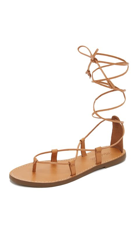 where to buy sandals madewell kana lace up gladiator sandals in brown lyst