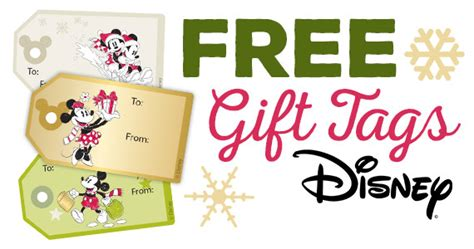 free mickey and friends gift tag stickers