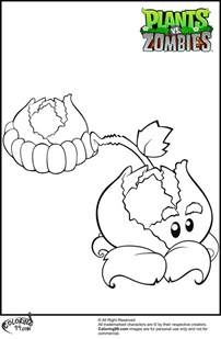 Plant Vs Coloring Pages plants vs zombies coloring pages minister coloring