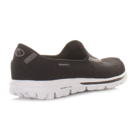 Go Walk Skechers by Trainers Womens Skechers Go Walk Black White Comfort