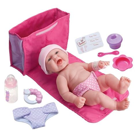 baby diaper bags boys girls babiesrus jc toys la newborn 13 quot all vinyl baby doll with 7 piece