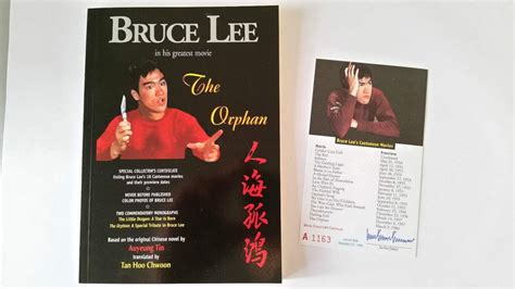 Orphan Film Certificate | bruce lee quot the orphan quot rare out of print book with no d