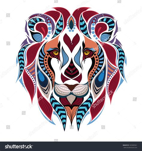 patterned colored indian stock vector