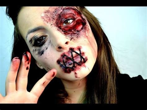 tutorial for zombie girl makeup halloween zombie girls make up tutorial youtube