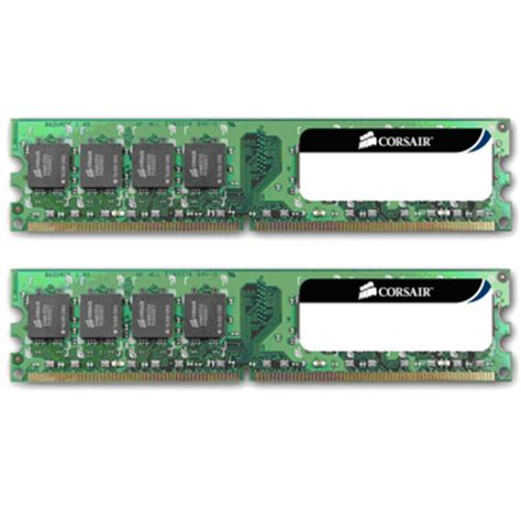 Ram Ddr2 4gb Dual Channel corsair memory value select 4gb ddr2 pc2 6400 800 dual channel desktop ln27222 vs4gbkit800d2