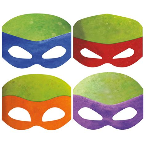 How To Make Paper Masks - nickelodeon mutant turtles paper masks 8
