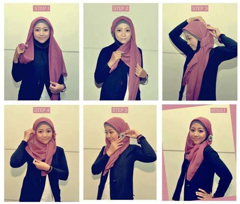 hijab tutorial buat sekolah segitiga 10 gaya hijab segi empat yang beda buat pipi chubby