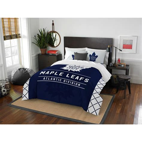 multi color comforter set nhl maple leafs draft 3 piece multi color polyester full