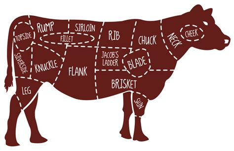cow cuts of diagram beef map 22 png 960 215 620 pixels butcher shop