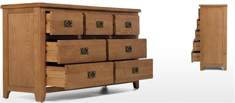 Rustic Oak Drawers by Rustic Oak 7 Drawer Wide Chest Of Drawers Quercus Living