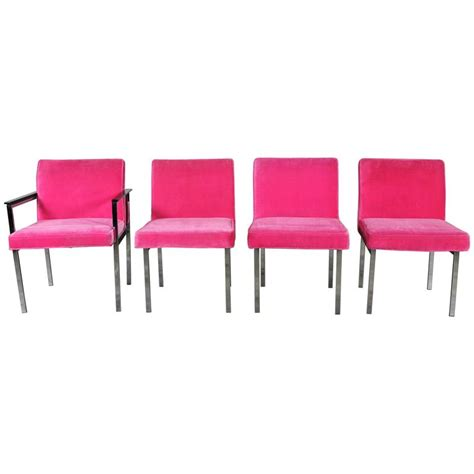 Pink Dining Chairs Pink And Chrome Dining Chairs American Of Martinsville Mid Century Modern For Sale At 1stdibs