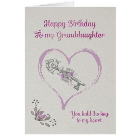 granddaughter card happy birthday granddaughter greeting card zazzle