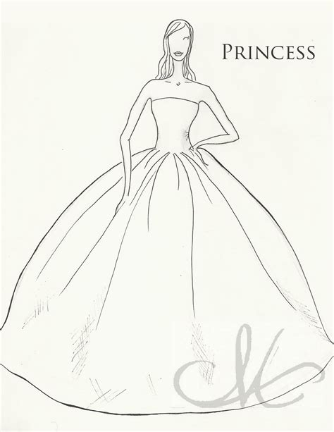 The Dainty Domestress Dress Week Silhouettes How To Draw A Princess Dress Step By Step Printable