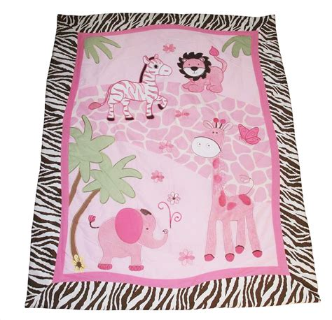 Pink Jungle Crib Bedding by Baby Boutique Pink Safari 13 Pcs Crib Nursery Bedding