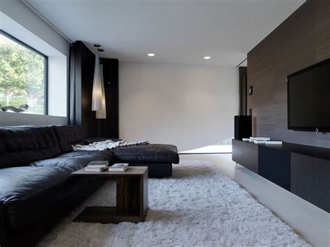 black and white tv room onstage house designed by simmengroup keribrownhomes