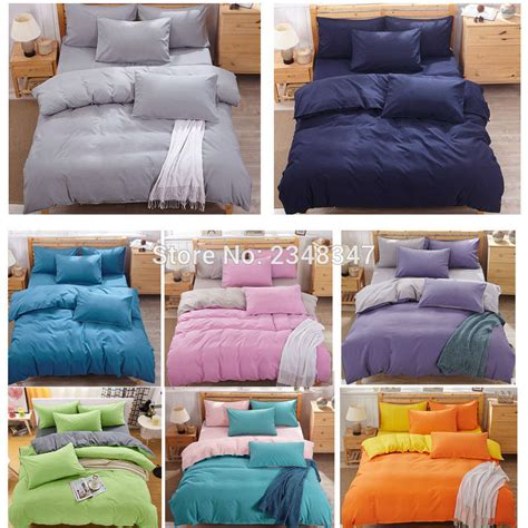 Solid Color Size Quilts Fashion 4pcs Solid Color Single