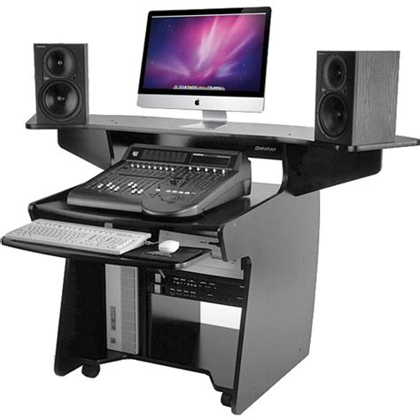 omnirax presto 4 studio desk black omnirax coda mixing and digital editing workstation desk