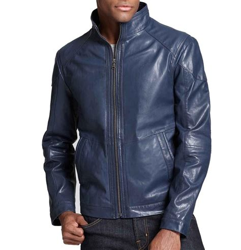 Jacket Navy navy blue leather jacket navy blue biker jacket