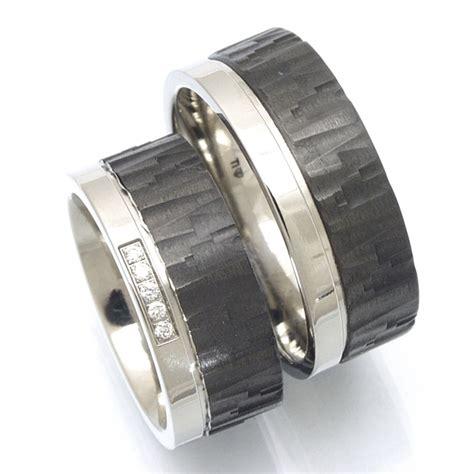 Trauringe Carbon Silber by Eheringe Shop Trauringe Aus Titan Und Carbon