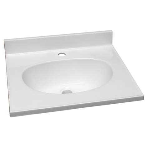 design house vanity top design house 31 in single faucet hole cultured marble
