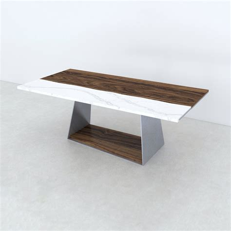 Quartz Table L Dining Table Live Edge Black Walnut Cambria Quartz Torquay 72 Quot L X 38 Quot W X 30 Quot H Bois