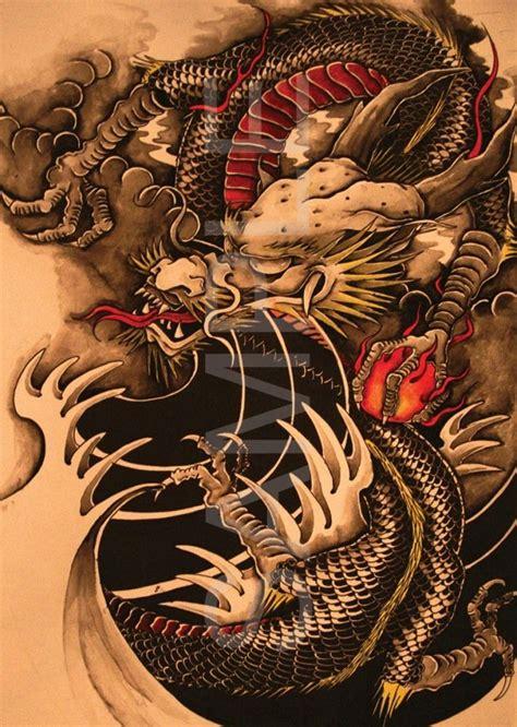 tattoo shop dragon chinese dragon tattoo poster art print dra01 a4 a3 buy 2