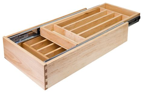 Drawer Within A Drawer Nested Cutlery Drawer For 24 Inch Base Cabinet
