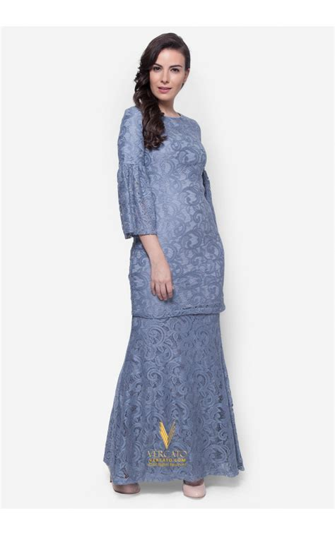 Baju Kurung Moden Lace baju kurung moden lace vercato nora in grey
