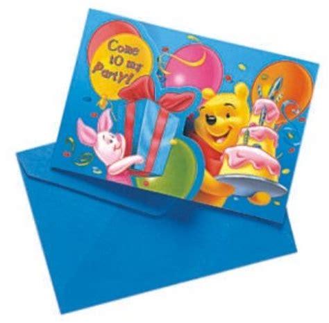 Winnie Pack winnie pooh einladungskarten 6er pack morgenthaler s partyshop