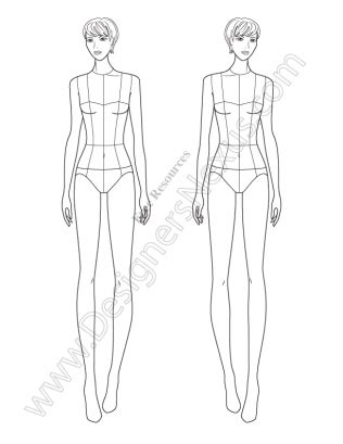 fashion design silhouette templates free fashion croquis 120 fashion figure templates