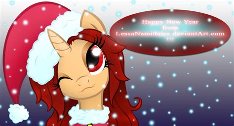 mlp oc anhy happy new year by lessanamidairo on deviantart