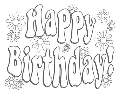 Happy Birthday Coloring Pages For printable happy birthday coloring pages coloring me