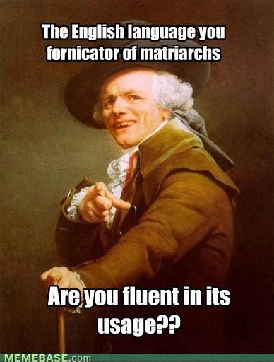 English Motherfucker Do You Speak It Meme - ducreux s lyrics brain storm