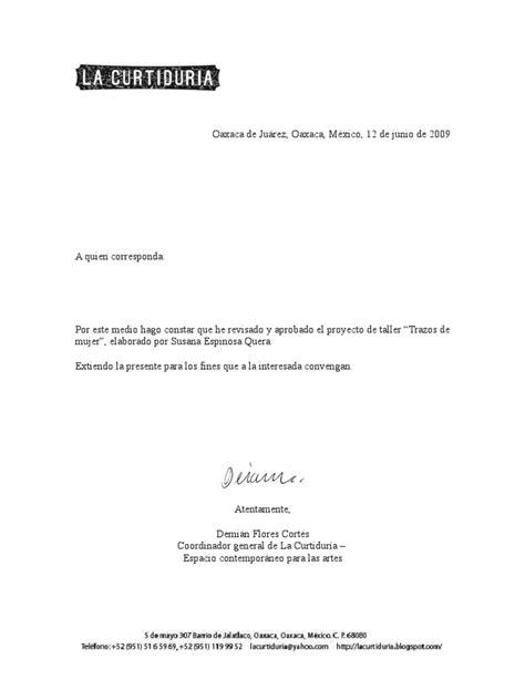 modelo de carta de aceptacion carta de aceptacion de proyecto