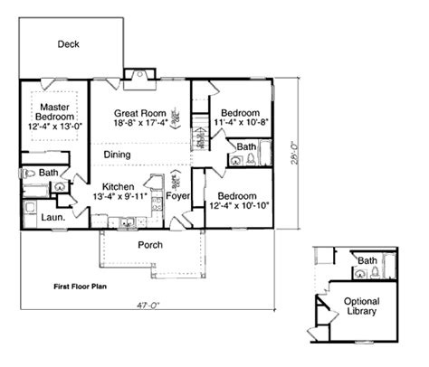 First Floor Plan Of Bungalow Plan 97730 Very Similar To Habitat For Humanity House Plans