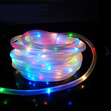 solar powered led rope lights 7m 50leds solar led string lights outdoor 6colors rope led string solar powered