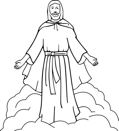 template of jesus pencil of jesus coloring pages