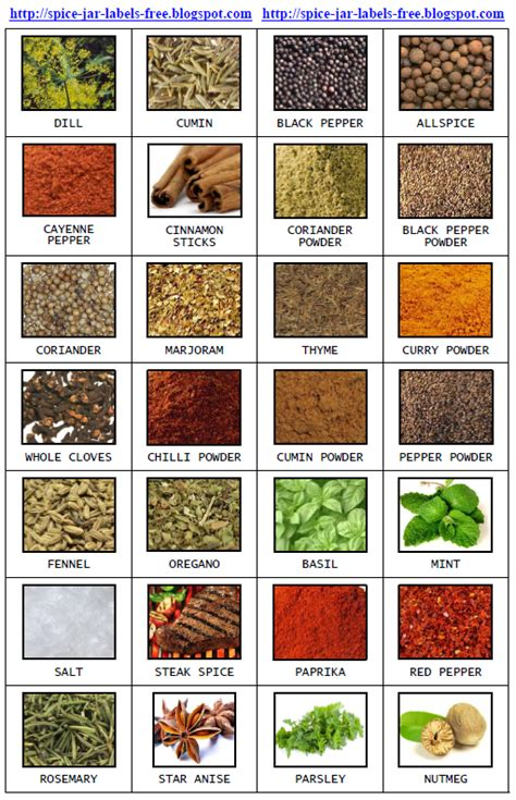 spice jar labels and templates to print free spice jar