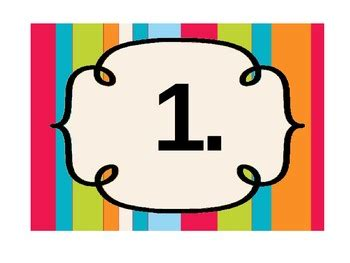 printable number labels printable number labels by maddy m teachers pay teachers