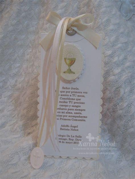 karina nevot souvenirs comunion karina nebot invitaci 243 n y separador de libro para primera